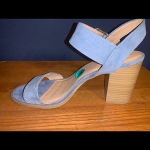 "Madden Girl Blue Sandals 4"" Block Heels"